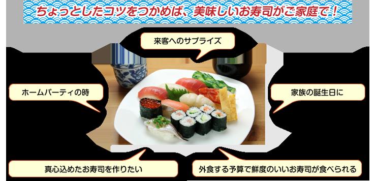 お寿司でパーティ