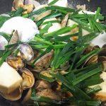 あさりと豆腐のピリ辛煮