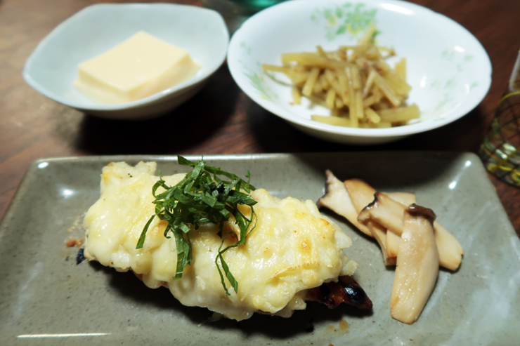 鰆の味噌マヨポテトチーズ焼き