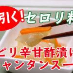 セロリのピリ辛甘酢漬け